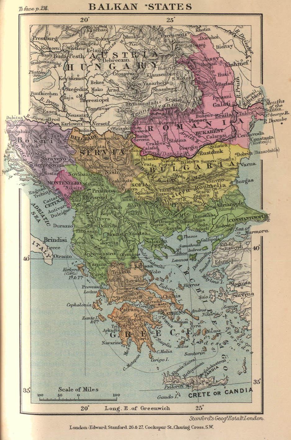 Estados Balcánicos en 1899