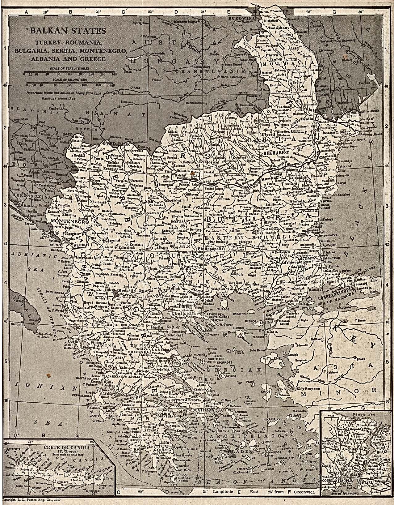 Balkan States Map 1917