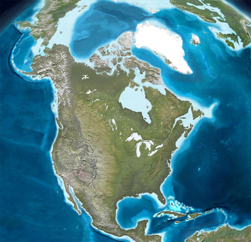 Estructura tectónica actual de América del Norte