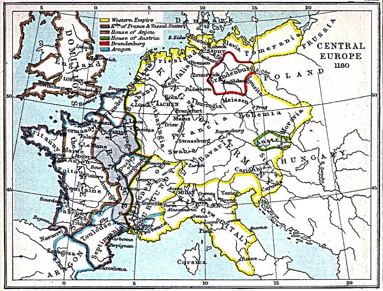 Europa Central 1180 A.D.