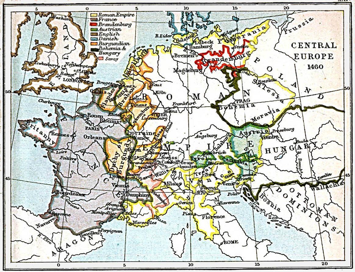 Europa Central 1460 A.D.