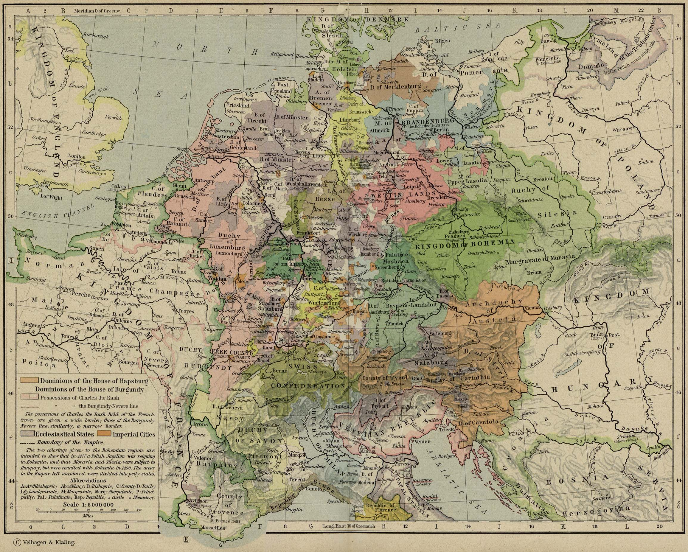 Central Europe about 1477