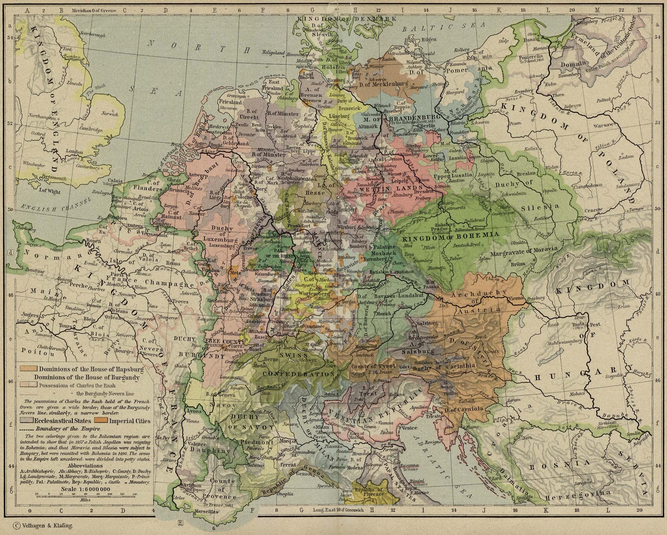 Europa Central circa 1477