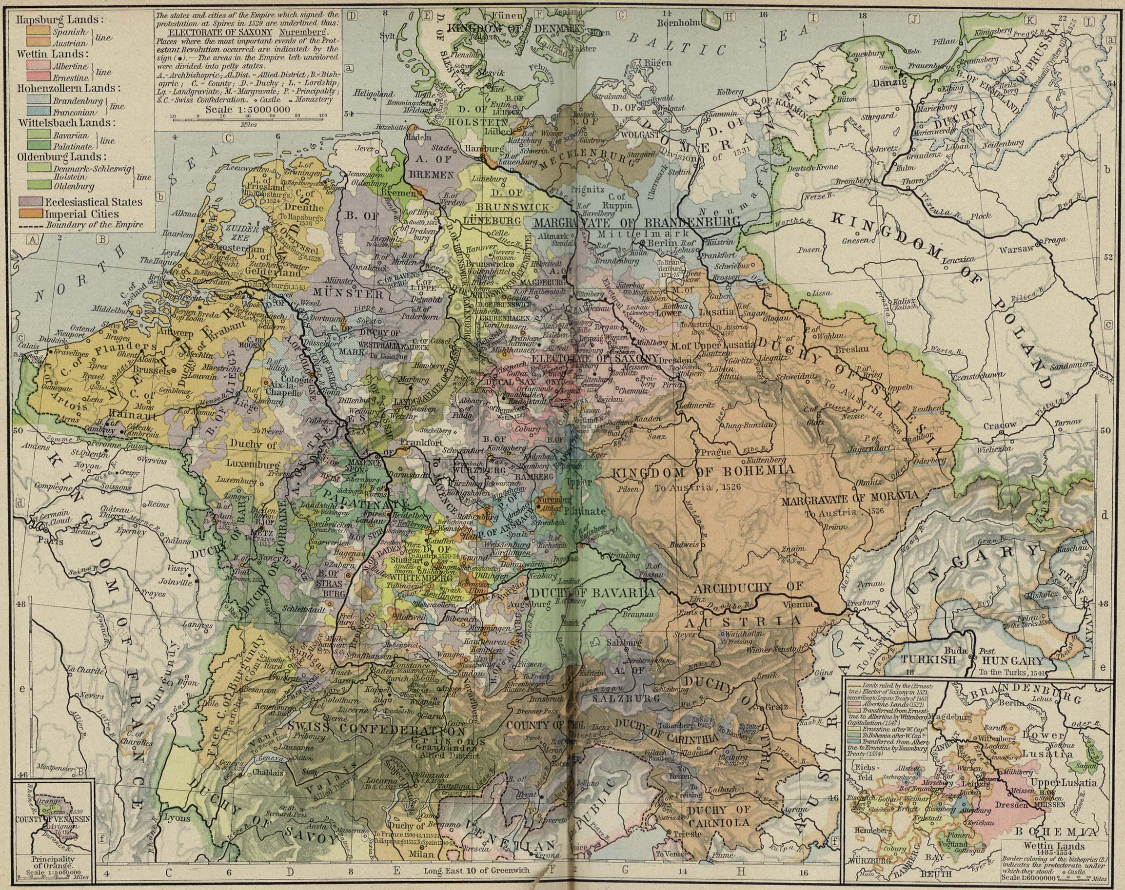 Central Europe about 1547