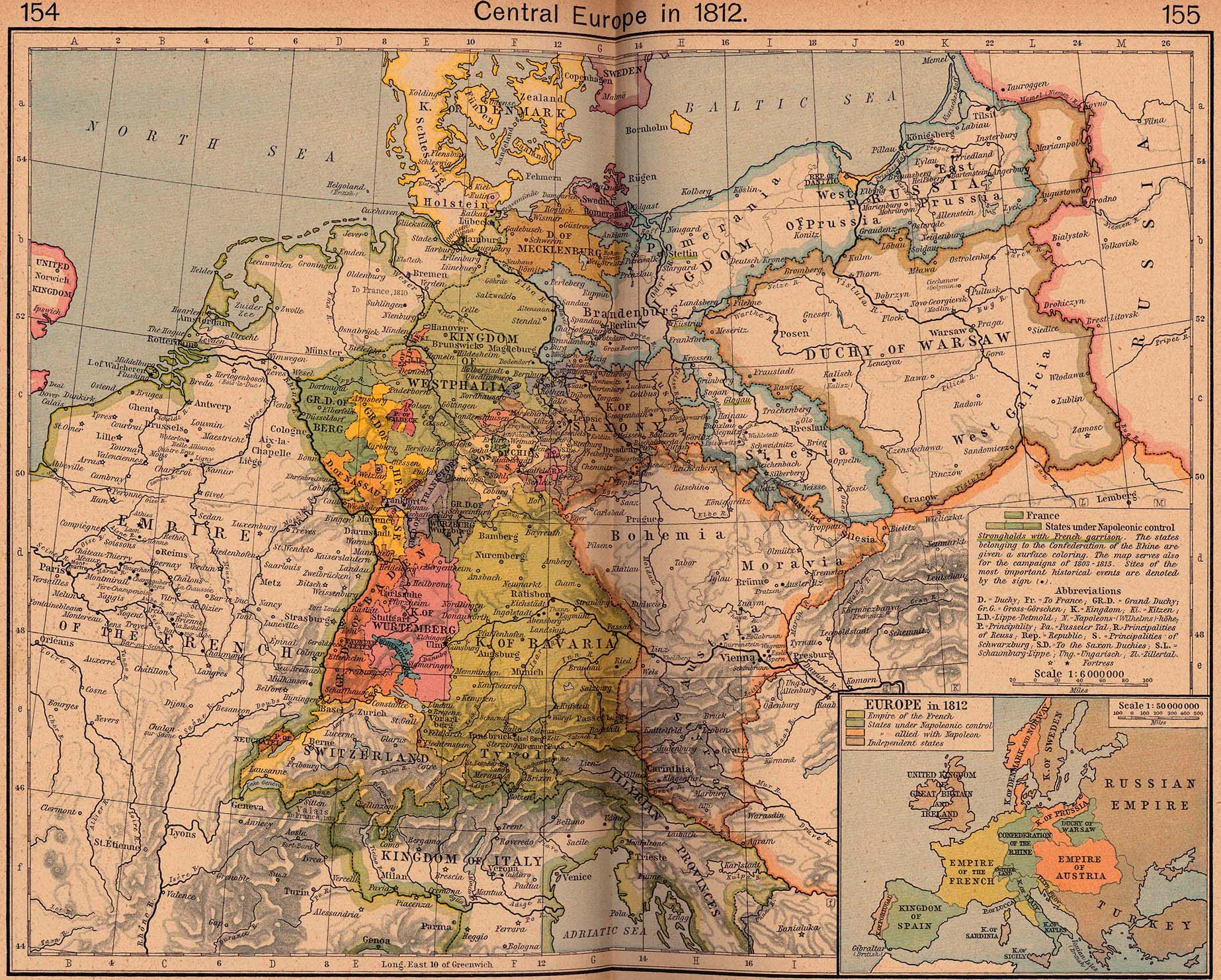 Central Europe in 1812