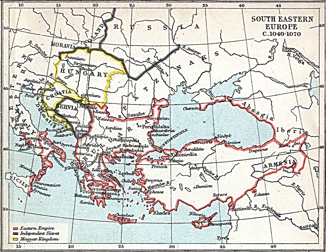 Europa Suroriental 1040 A.D.