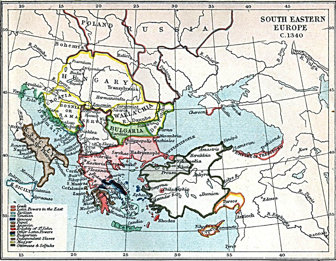 Europa Suroriental 1340 A.D.