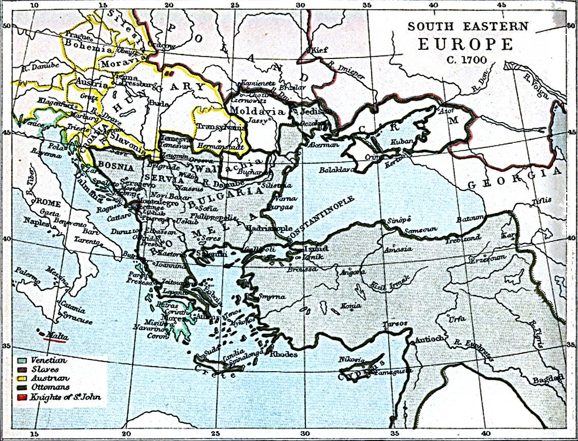 Europa Suroriental 1700 A.D.