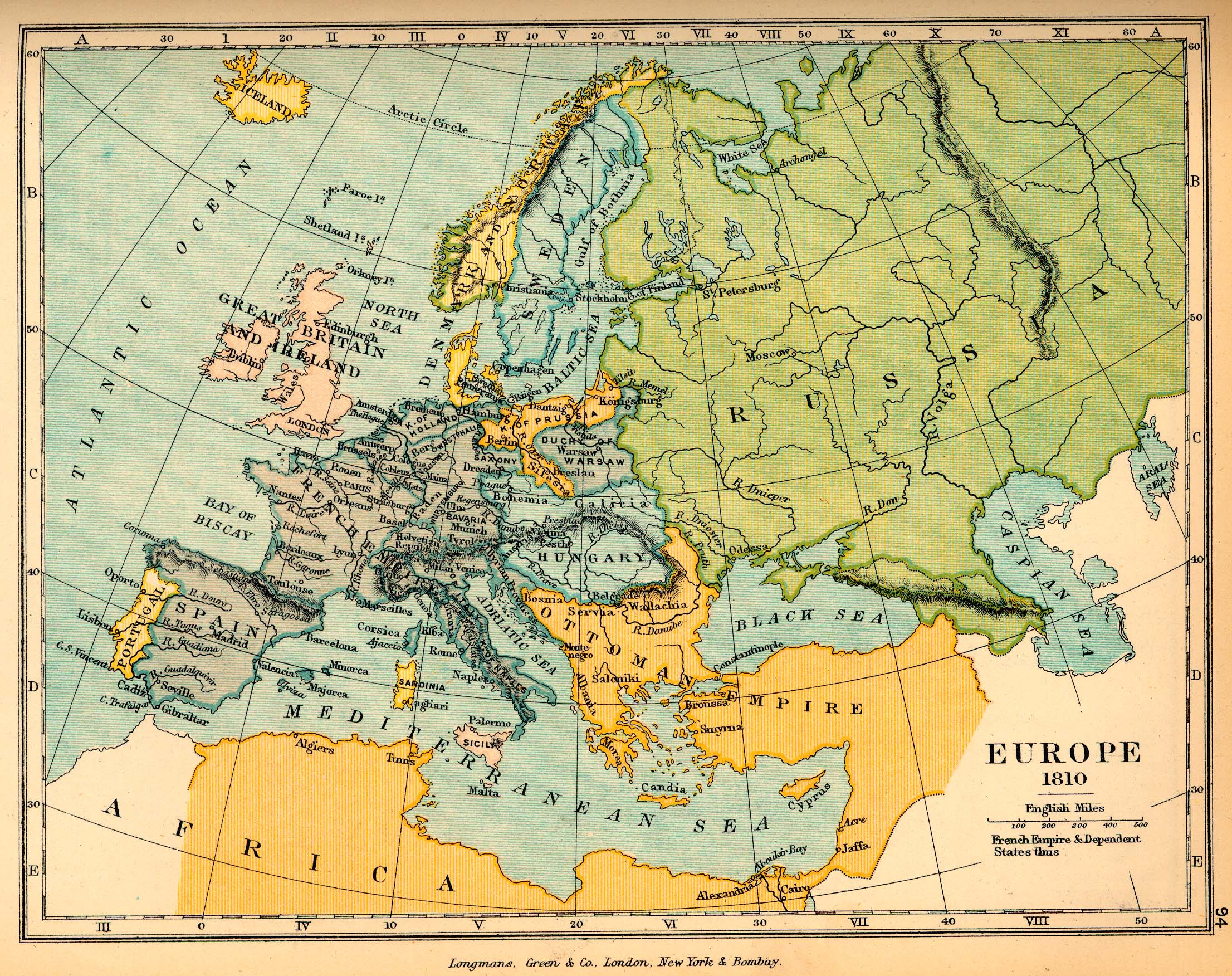 Europa en 1810