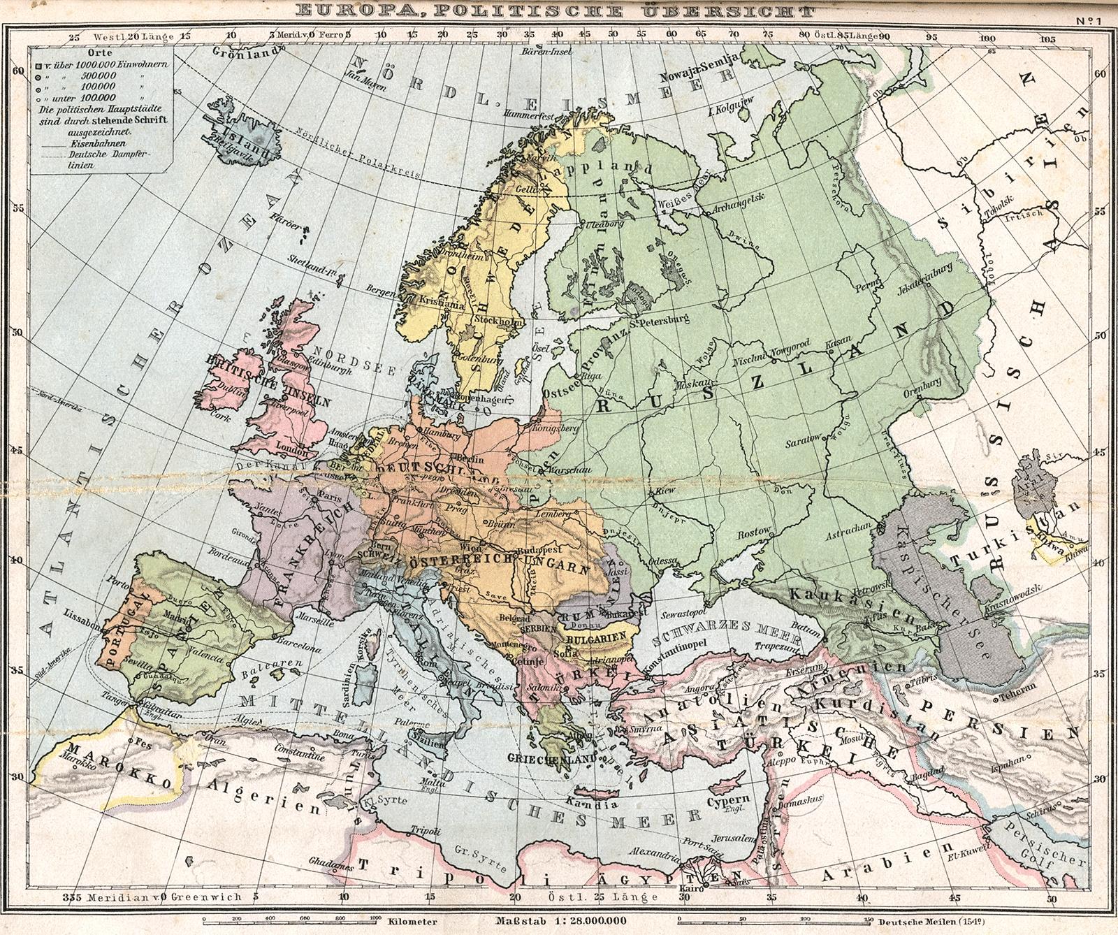 Europa en 1905