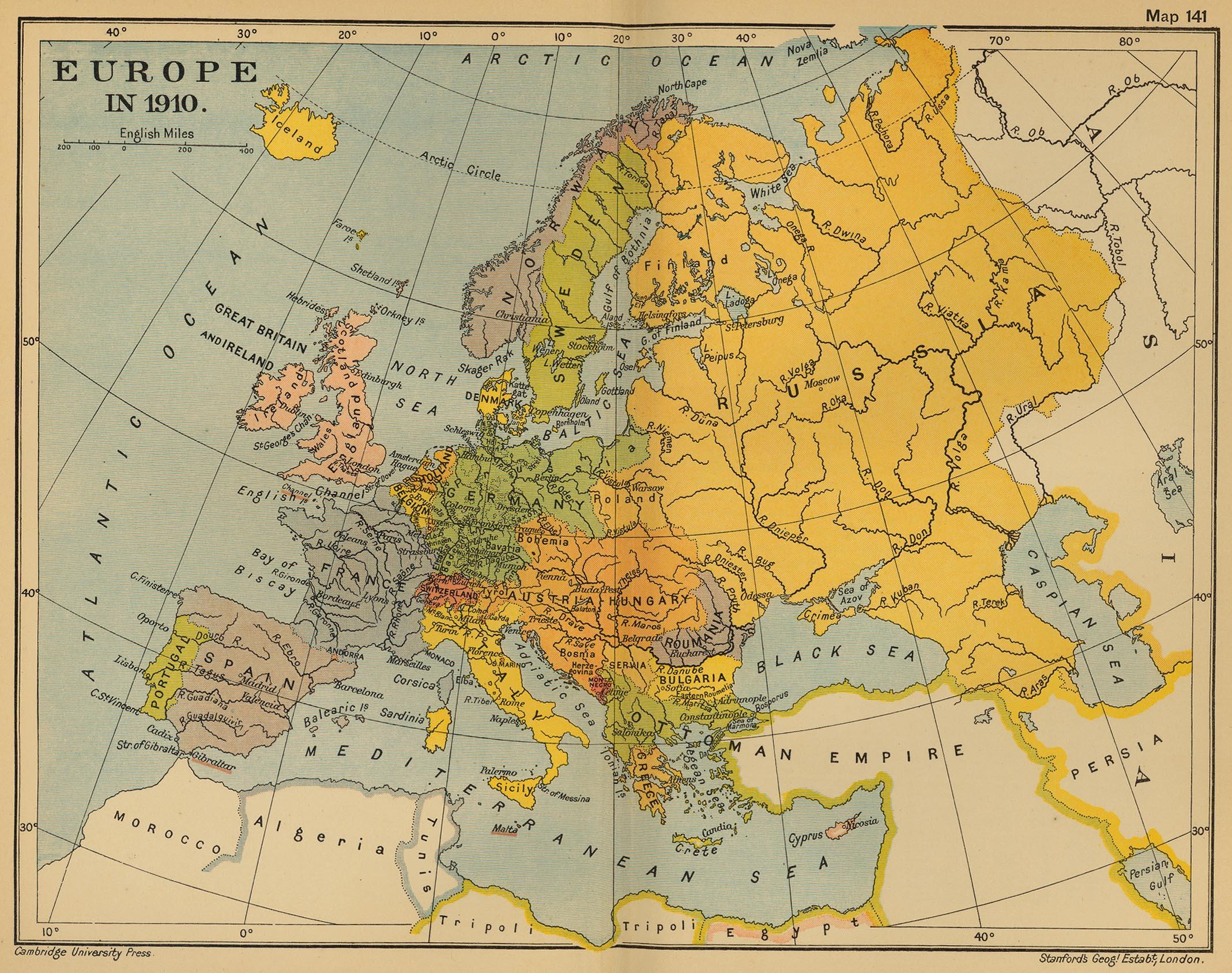 Europa en 1910