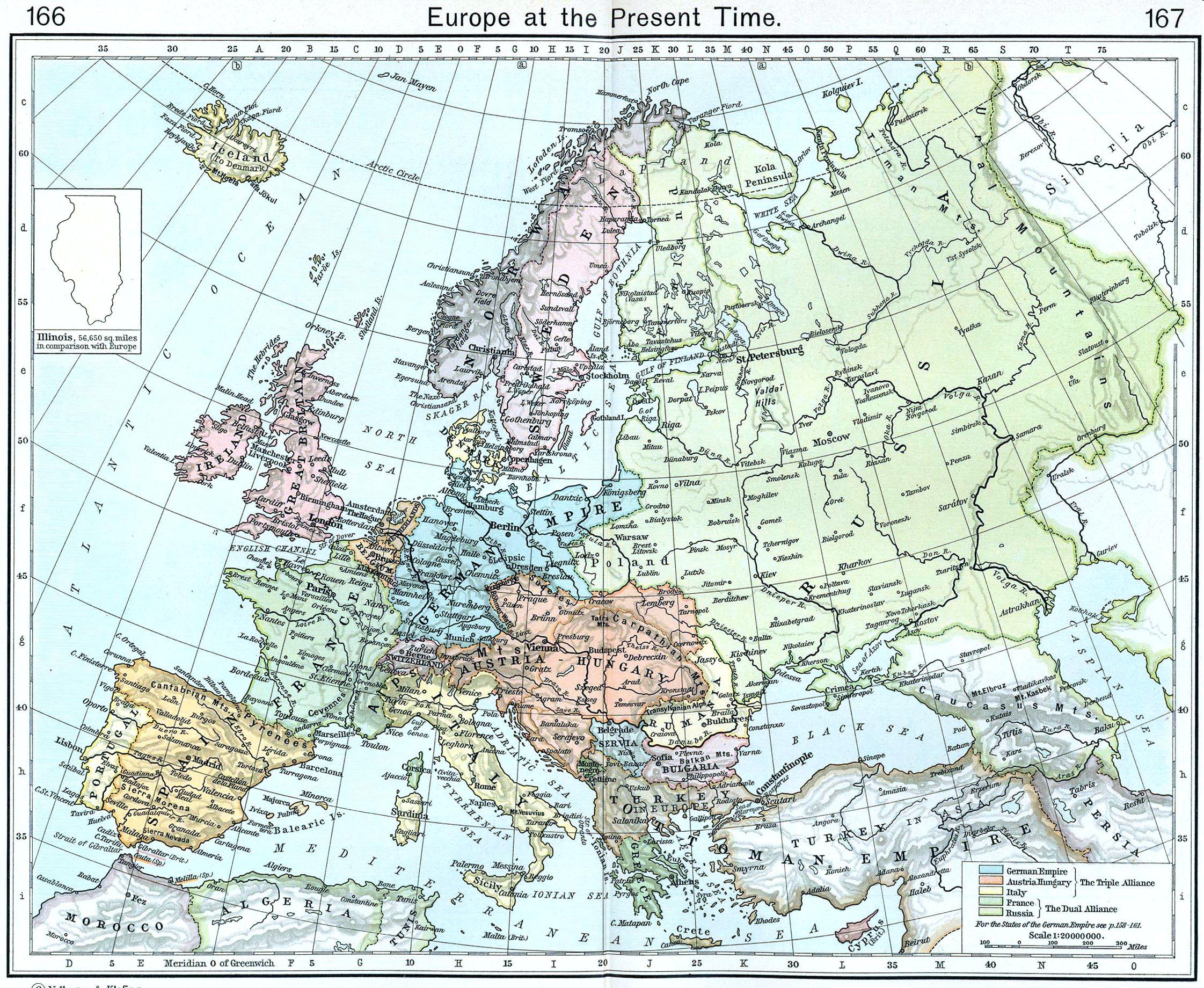 Europe map 1911