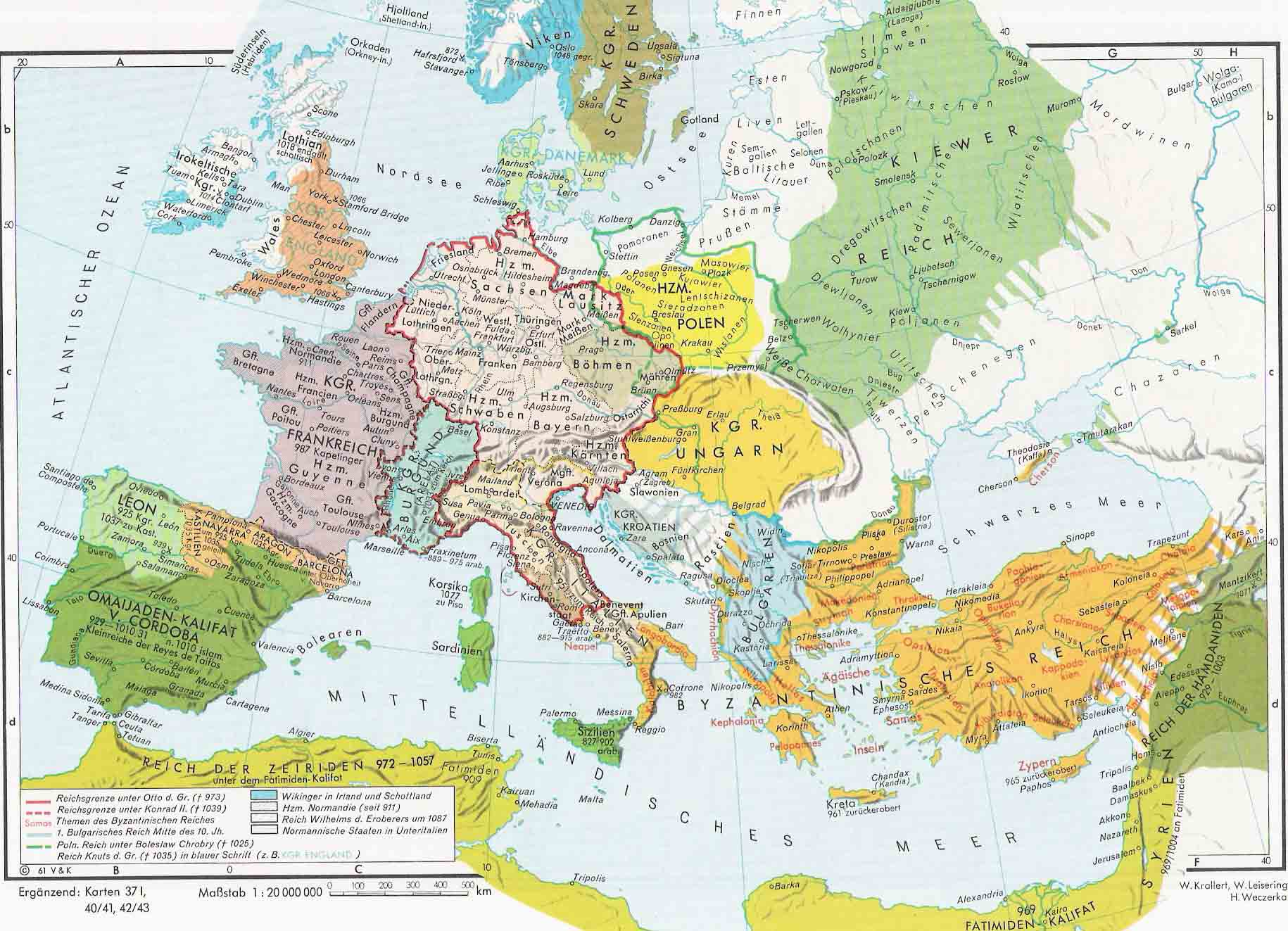 Europe in the Middle Ages 900-1000
