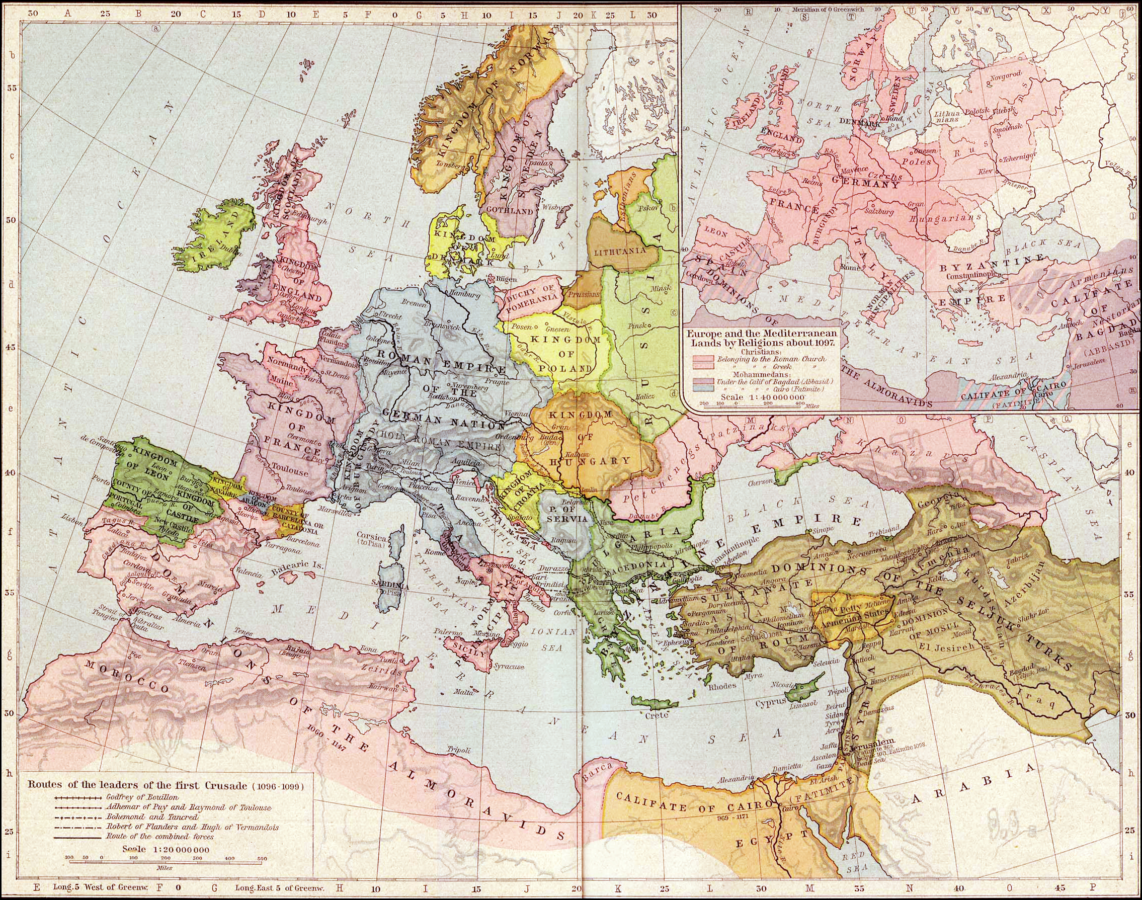 Europe and the Mediterranean lands about 1097