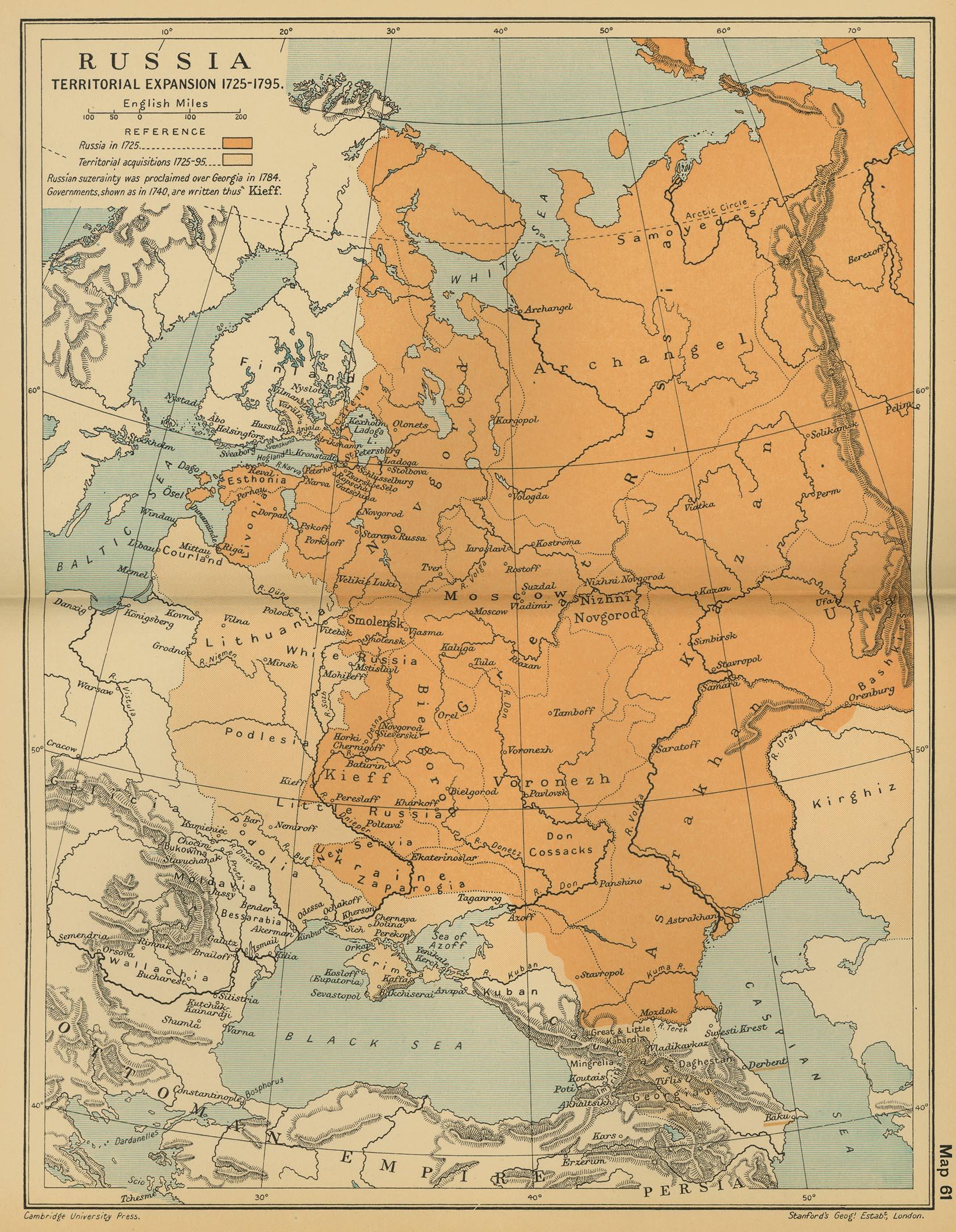 Expansión Territorial de Rusia 1725 - 1795
