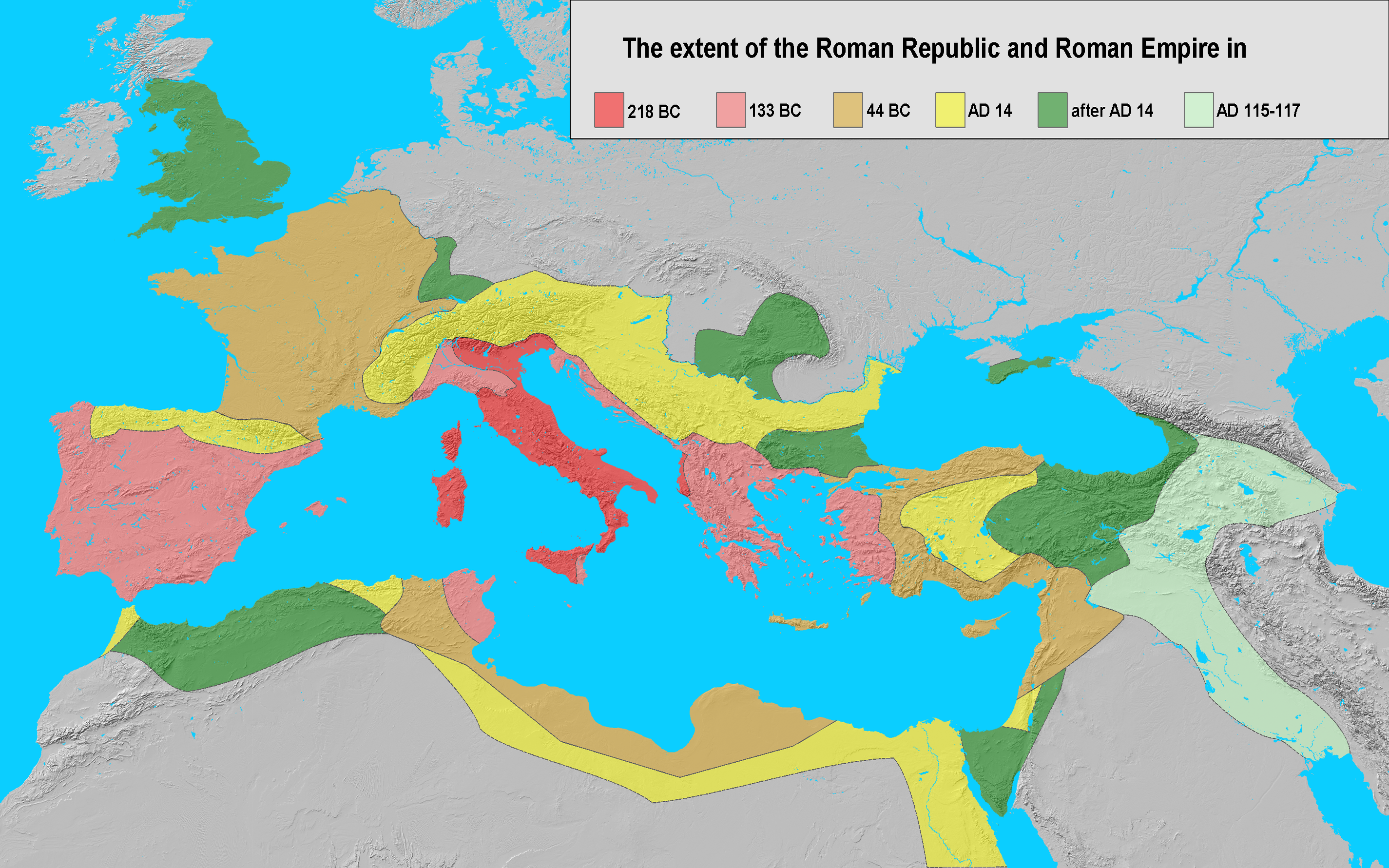 Extent of the Roman Empire