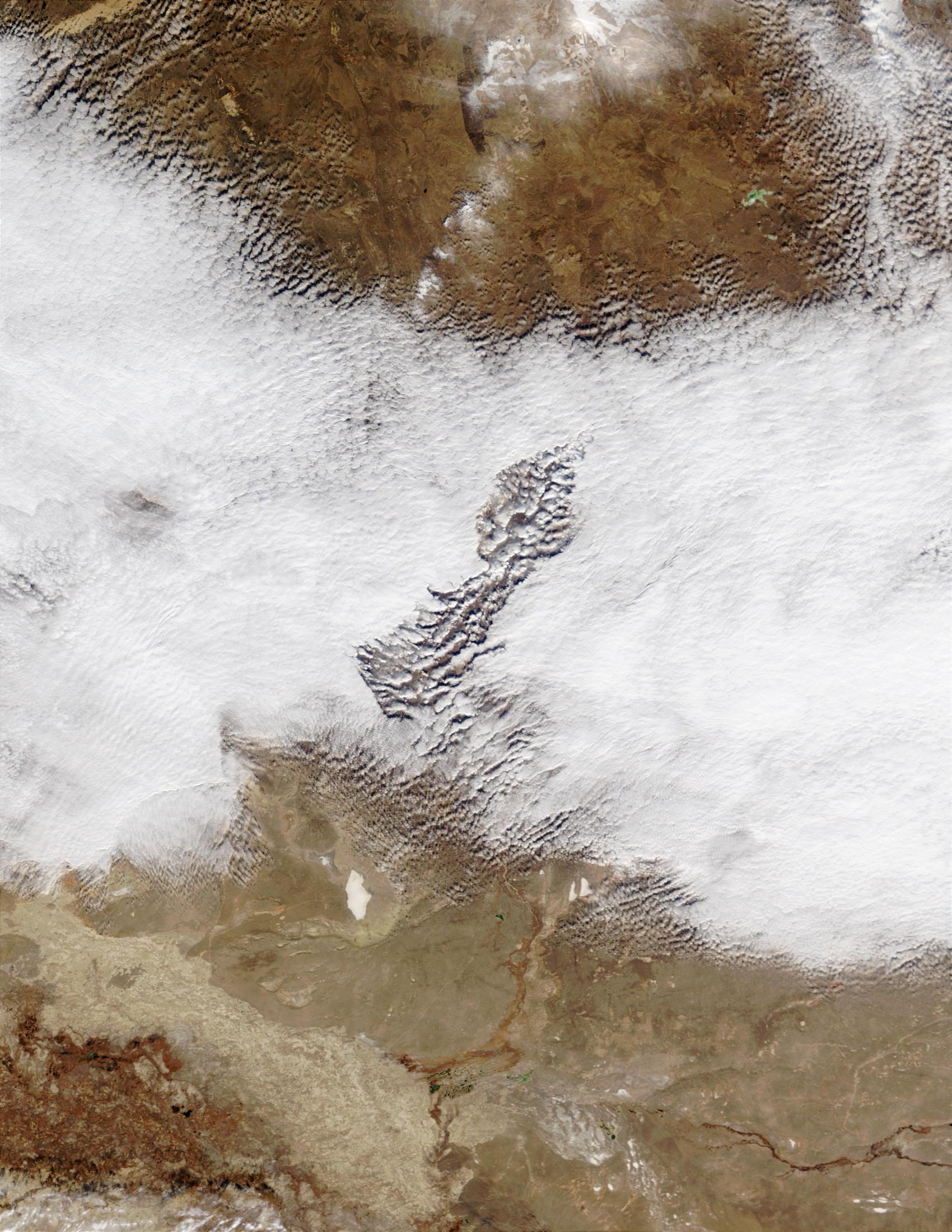 Extraña nube en Kazajistán