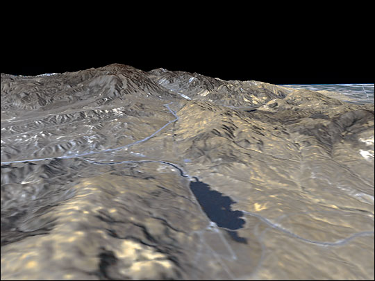 San Andreas Fault from Shuttle Radar Topography Mission