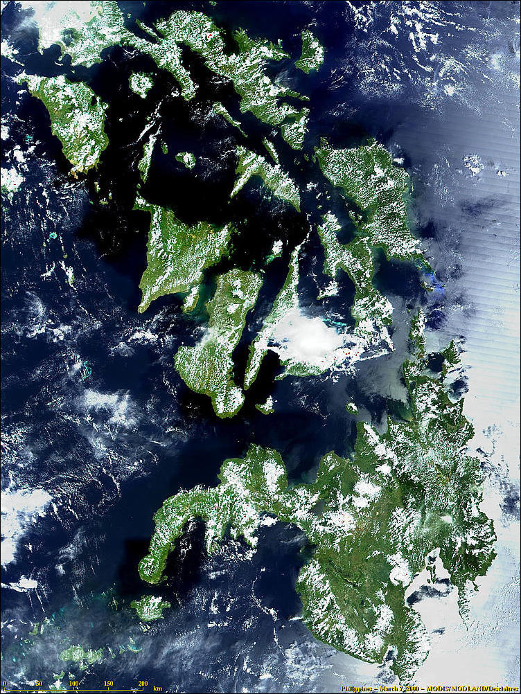 Philippines from MODIS