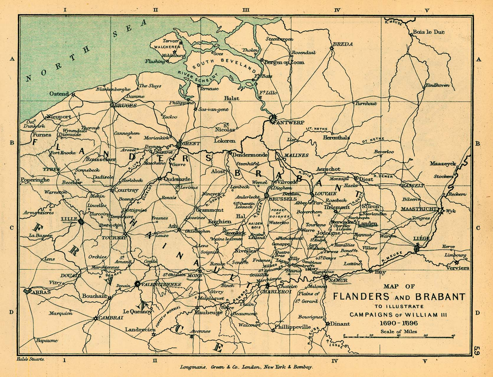 Map of the Flanders and Brabant, Illustrating the Campaign of William III, 1690 - 1696