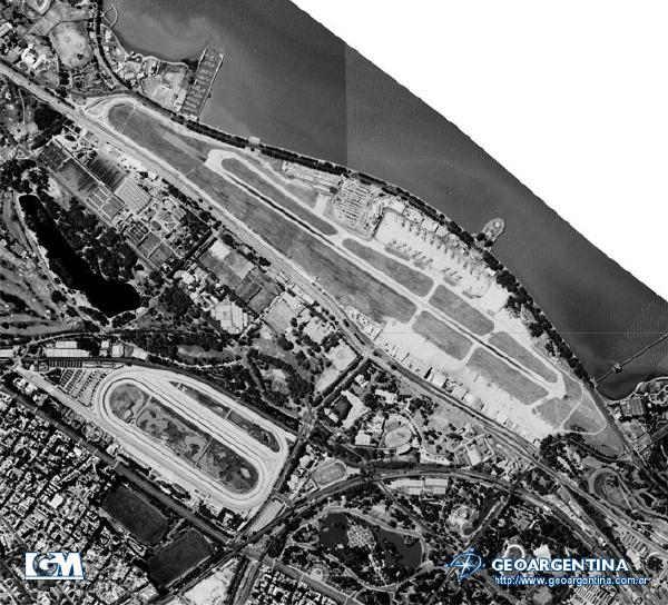 Aerial Photo of International Airport Jorge Newbery, Buenos Aires, Argentina