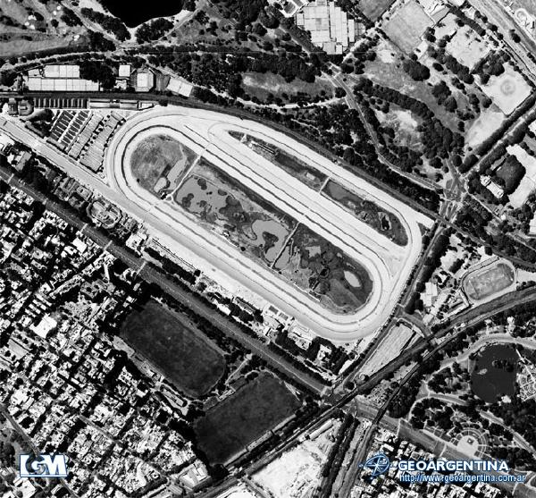 Aerial Photo of Palermo Racecourse, Polo Fields, Buenos Aires, Argentina