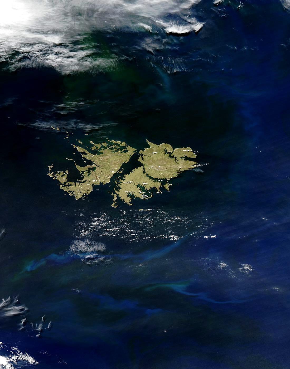 Satellite Image, Photo of Falkland Islands (Islas Malvinas)