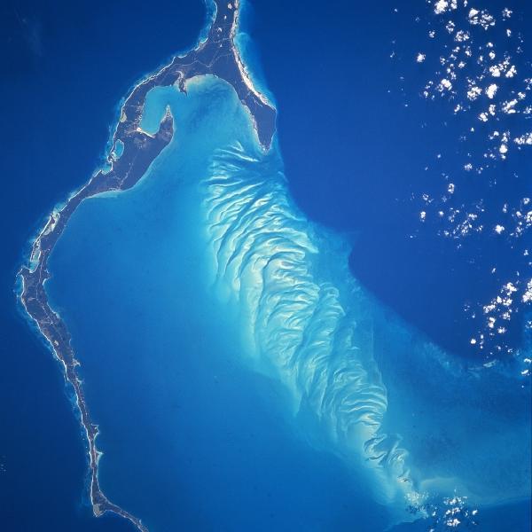 Foto e Imagen Satélite de la Isla Eleuthera, Bahamas
