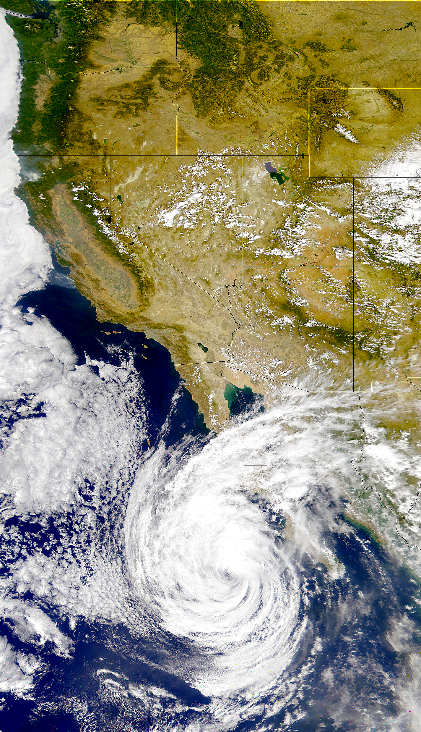 California Fires and Tropical Storm Hilary