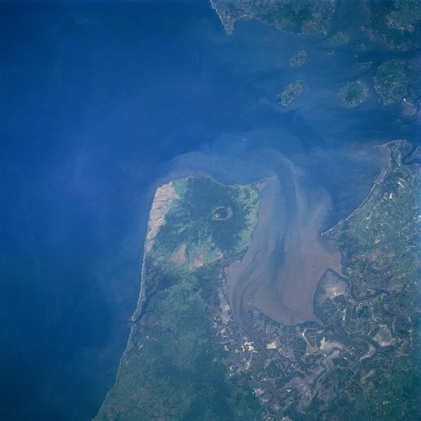 Satellite, Image Photo of Gulf Fonseca, Honduras - Nicaragua - El_salvador
