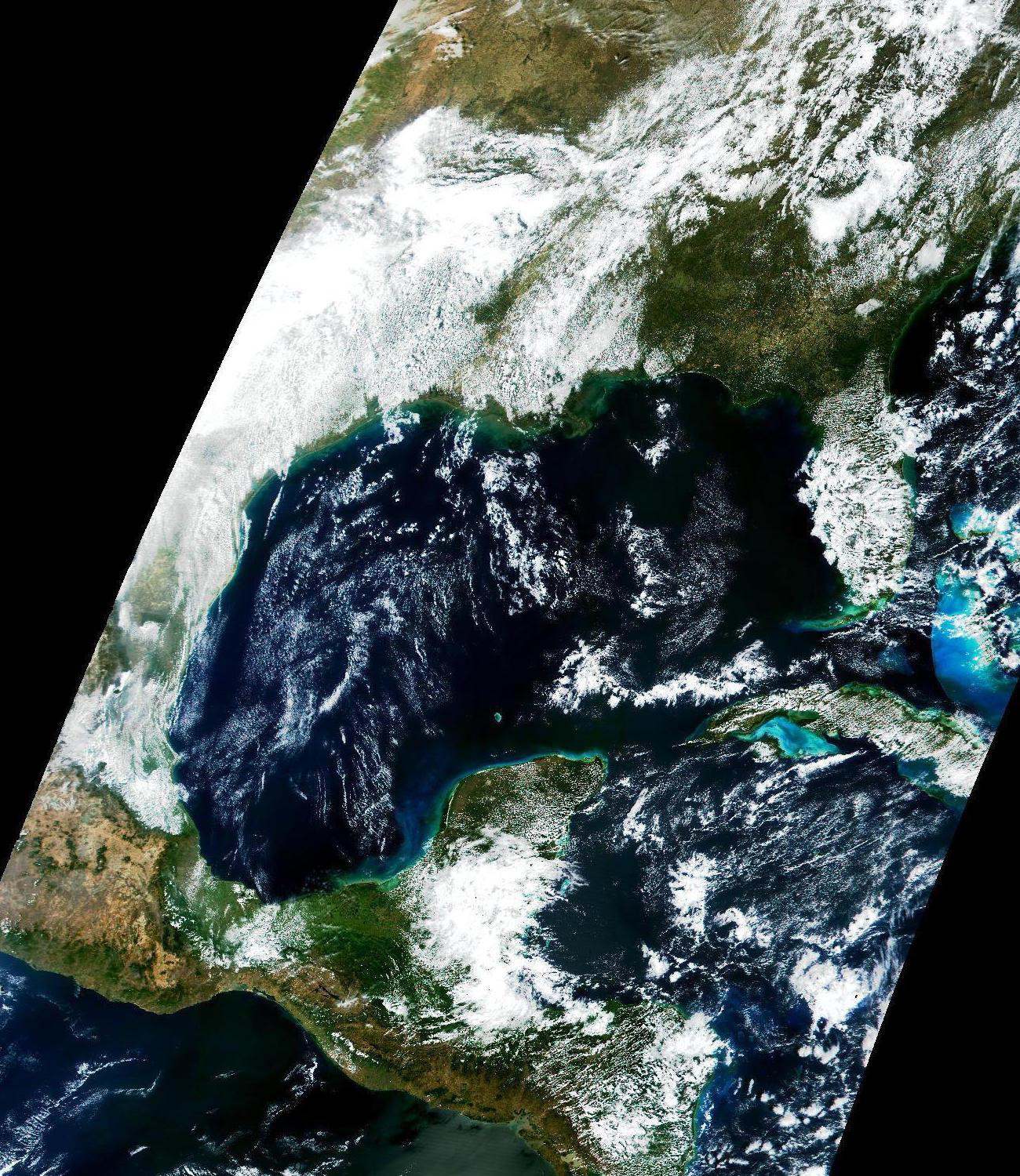 First Light: Early Engineering Image over Gulf of Mexico and Eastern North America