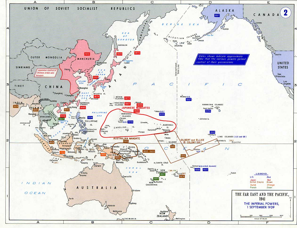 Pacific War - The Imperial Powers 1939