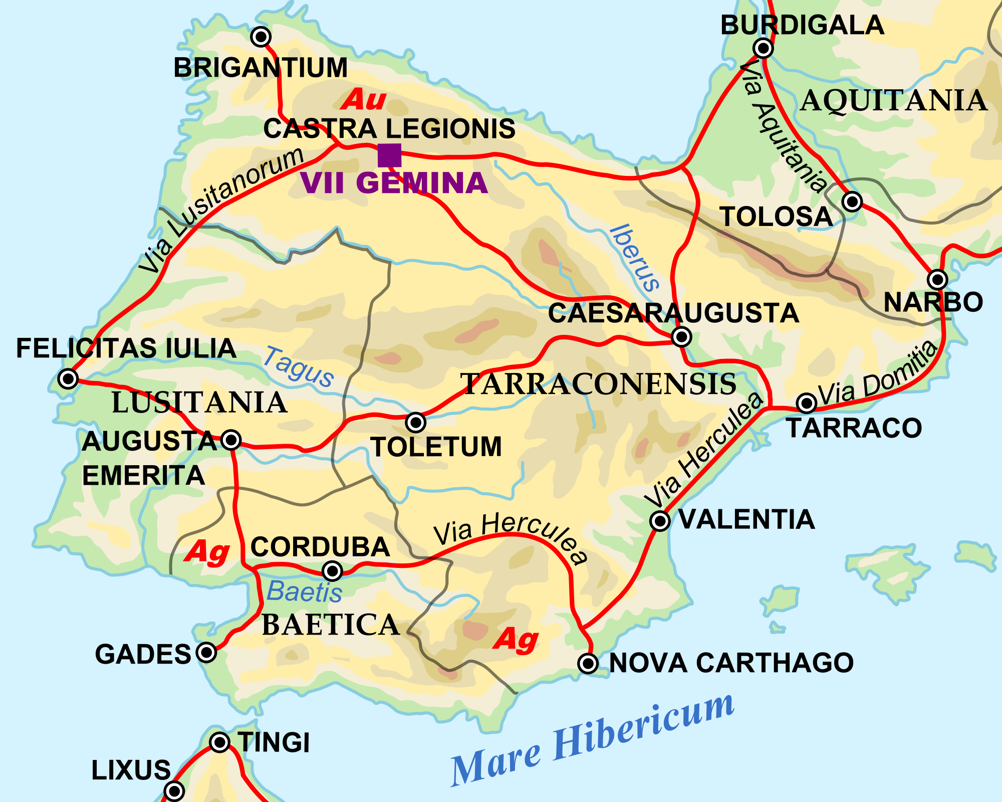 Hispania under Hadrian, 125 AD