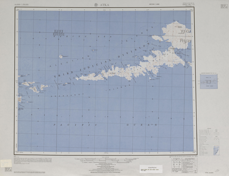Hoja Atka del Mapa Topográfico de los Estados Unidos 1953