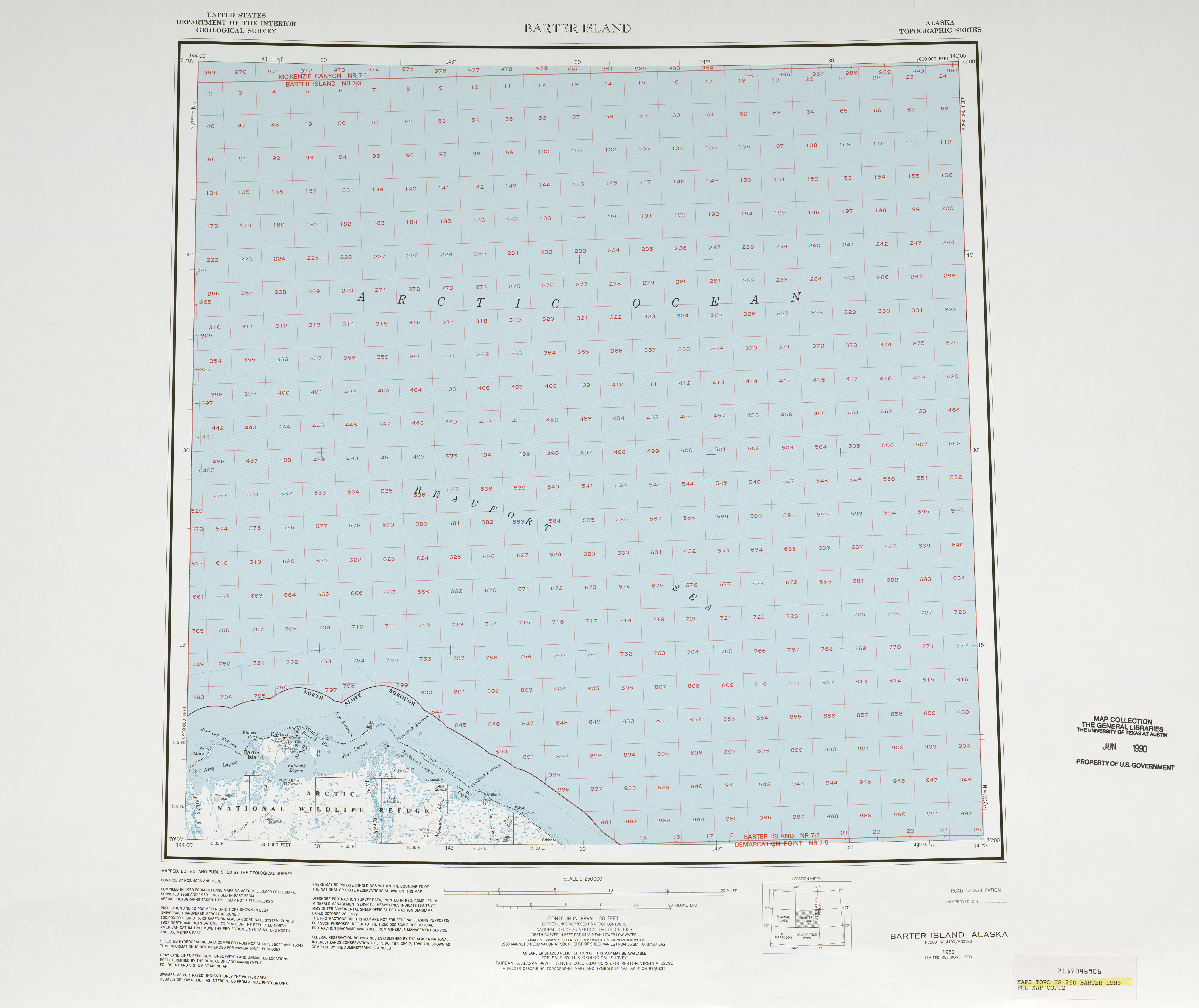 Barter Island Satellite Image Sheet, United States 1983