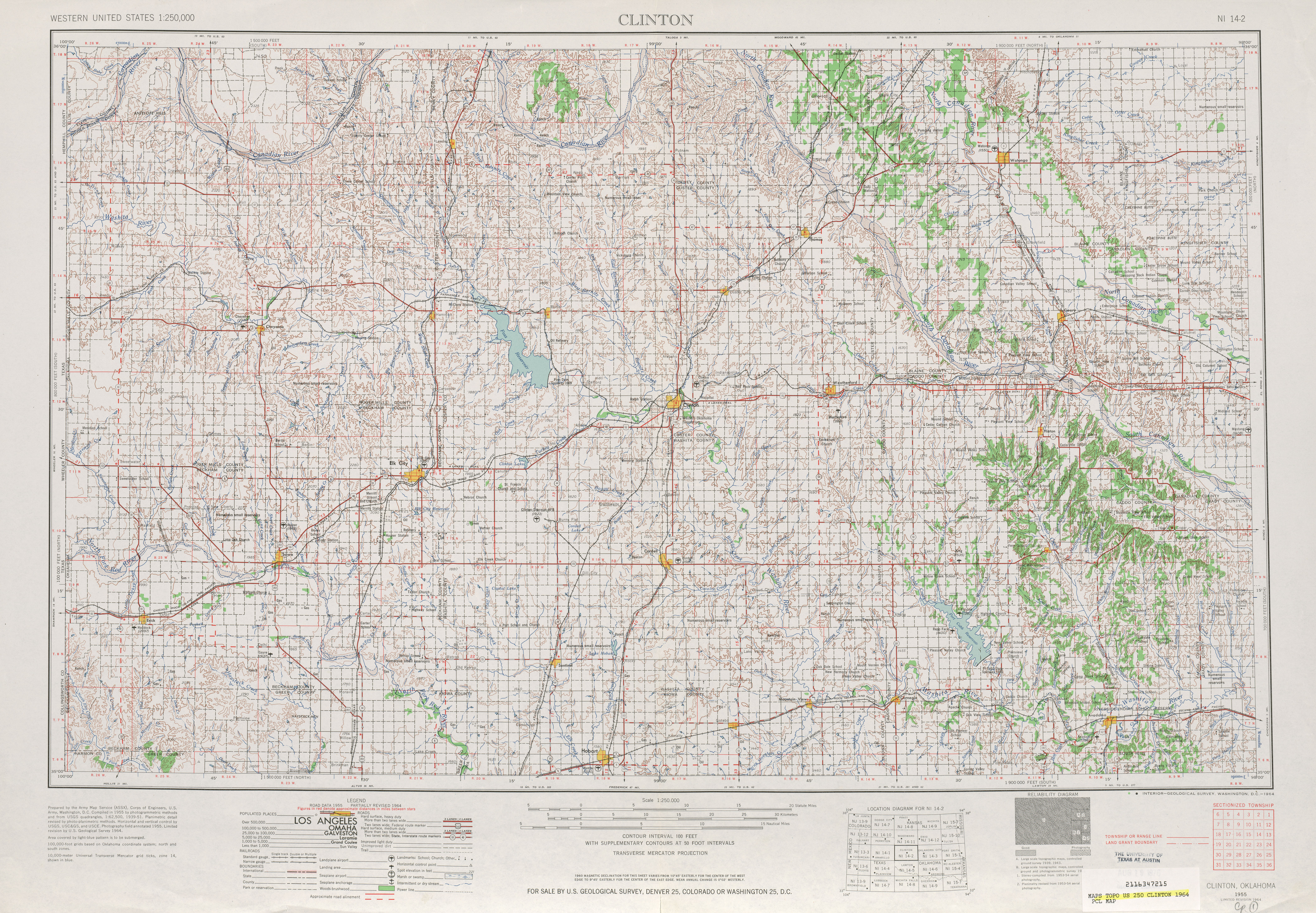 Clinton Topographic Map Sheet, United States 1964