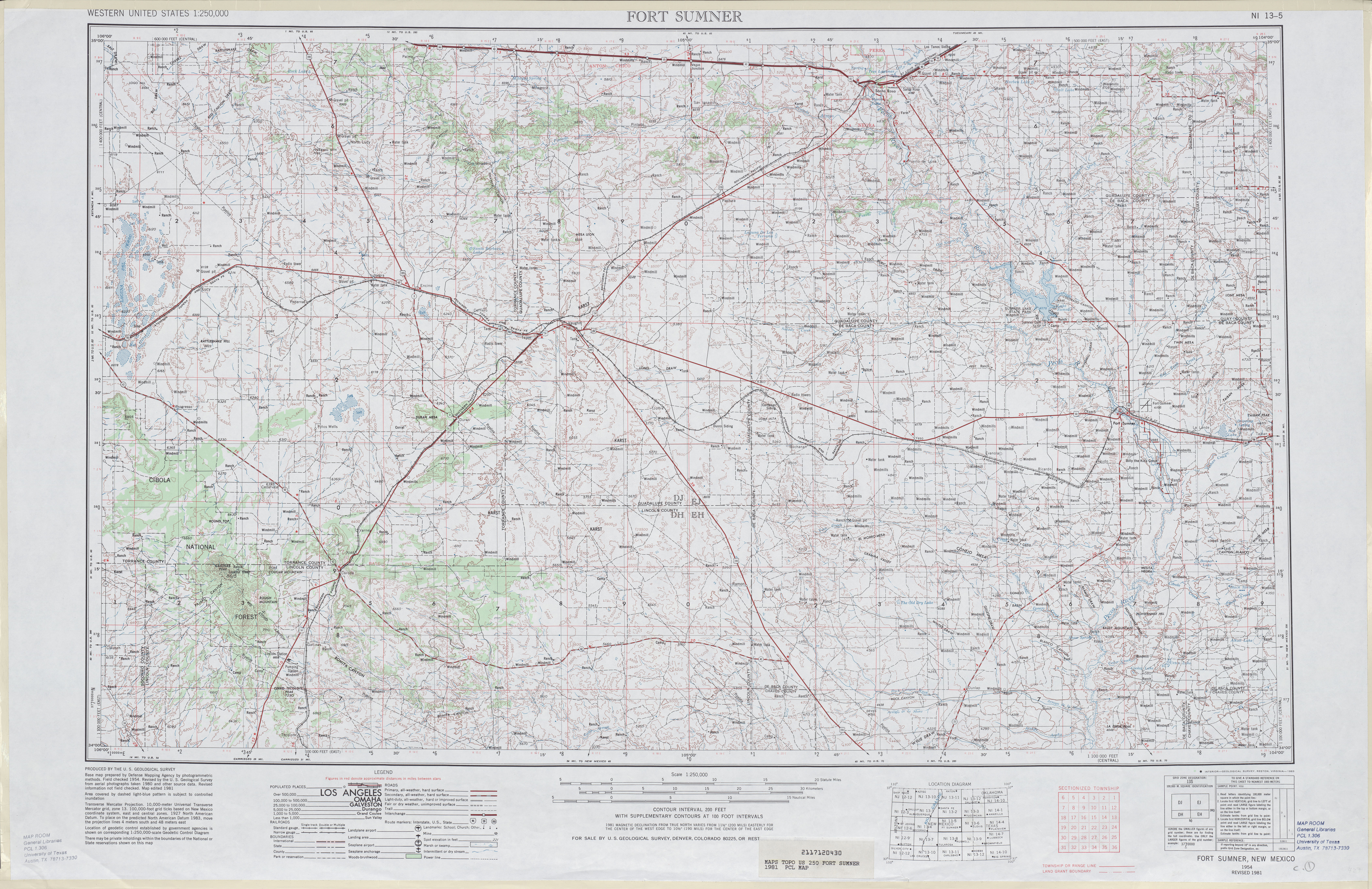 Fort Sumner Topographic Map Sheet, United States