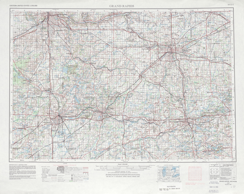 Hoja Grand Rapids del Mapa Topográfico de los Estados Unidos 1980