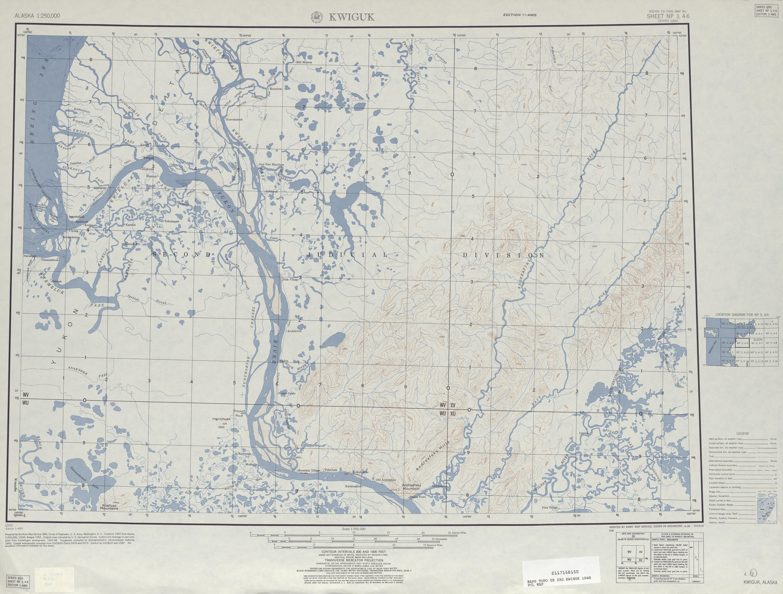 Hoja Kwiguk del Mapa Topográfico de los Estados Unidos 1948