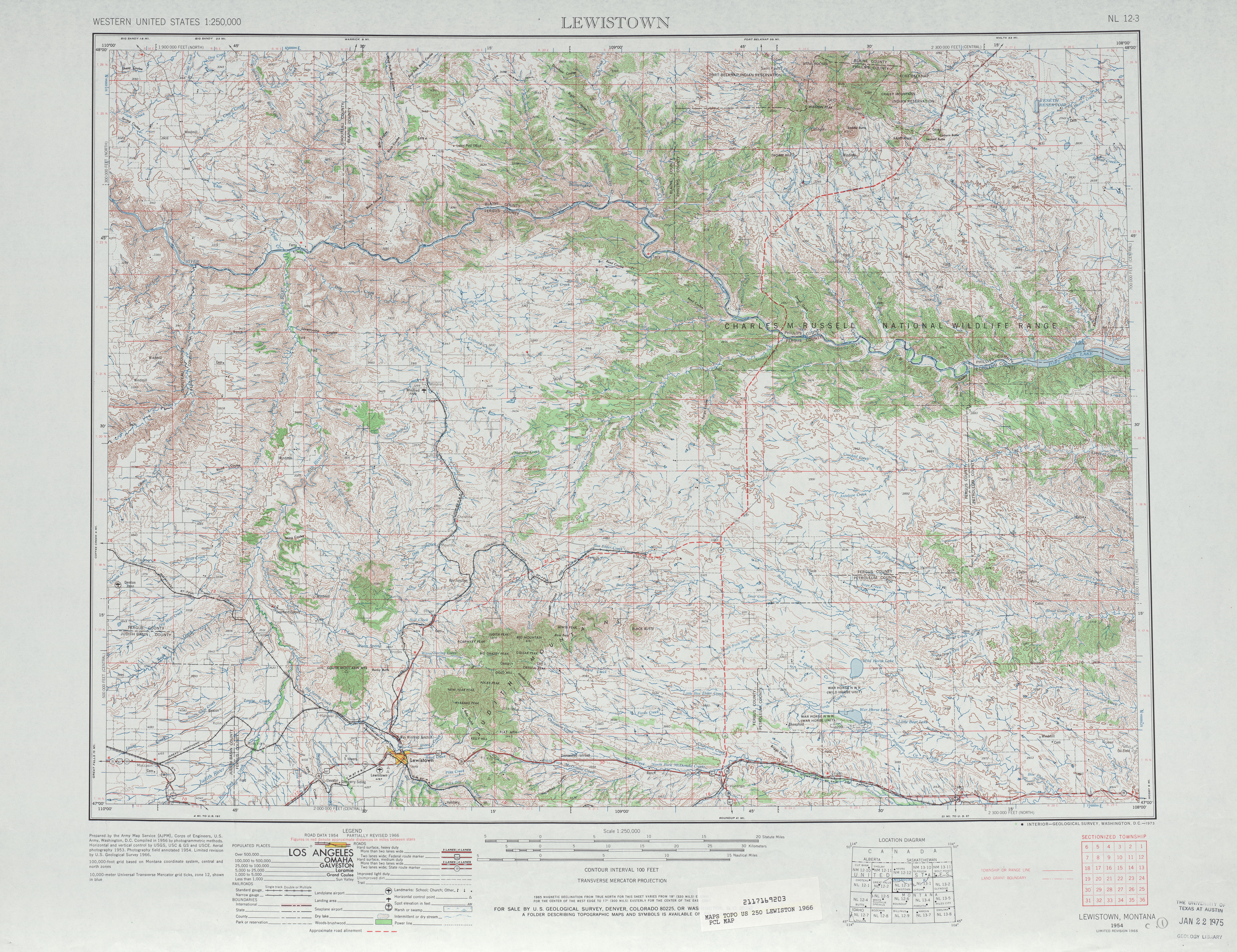 Lewiston Topographic Map Sheet, United States 1966