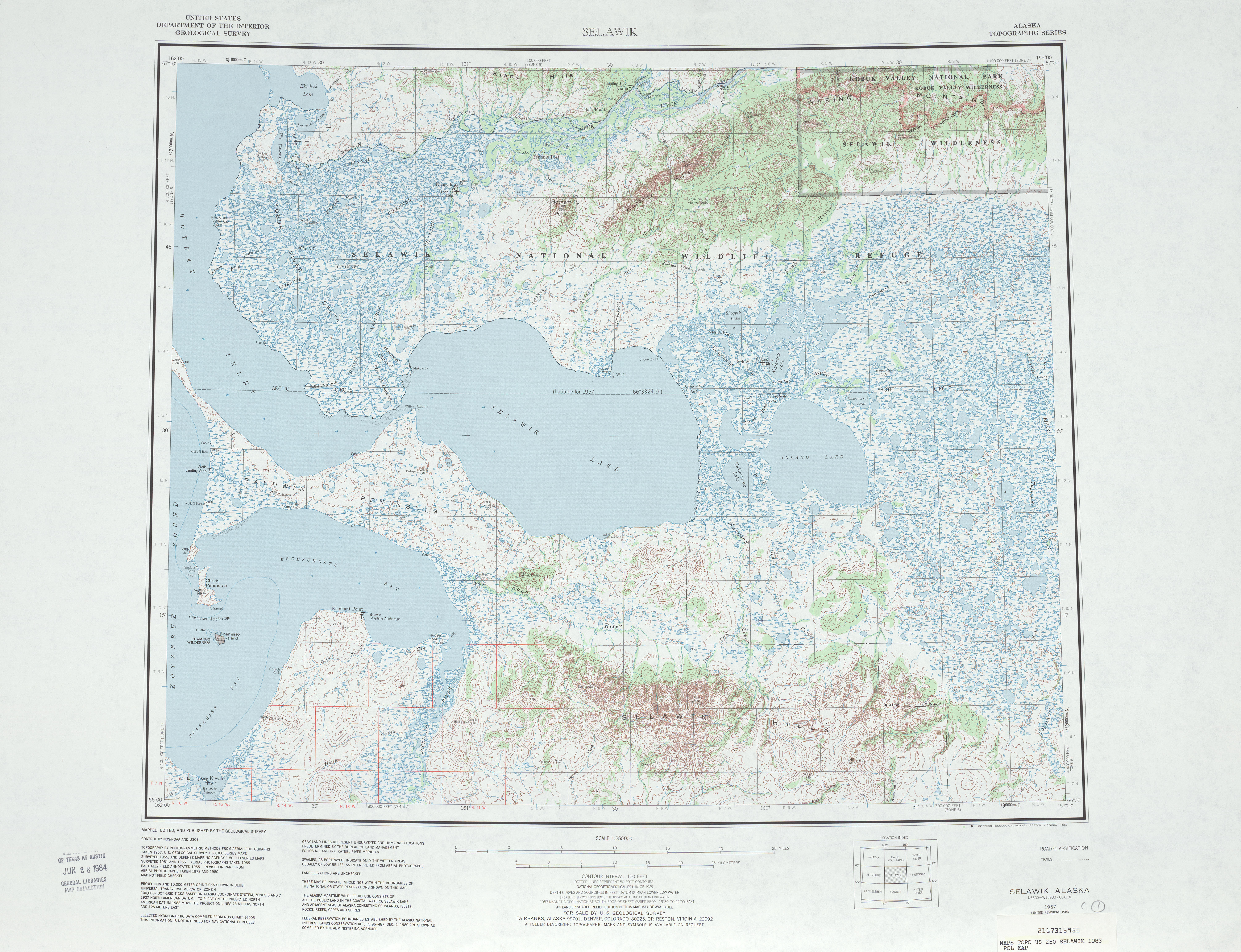 Selawik Topographic Map Sheet, United States 1983