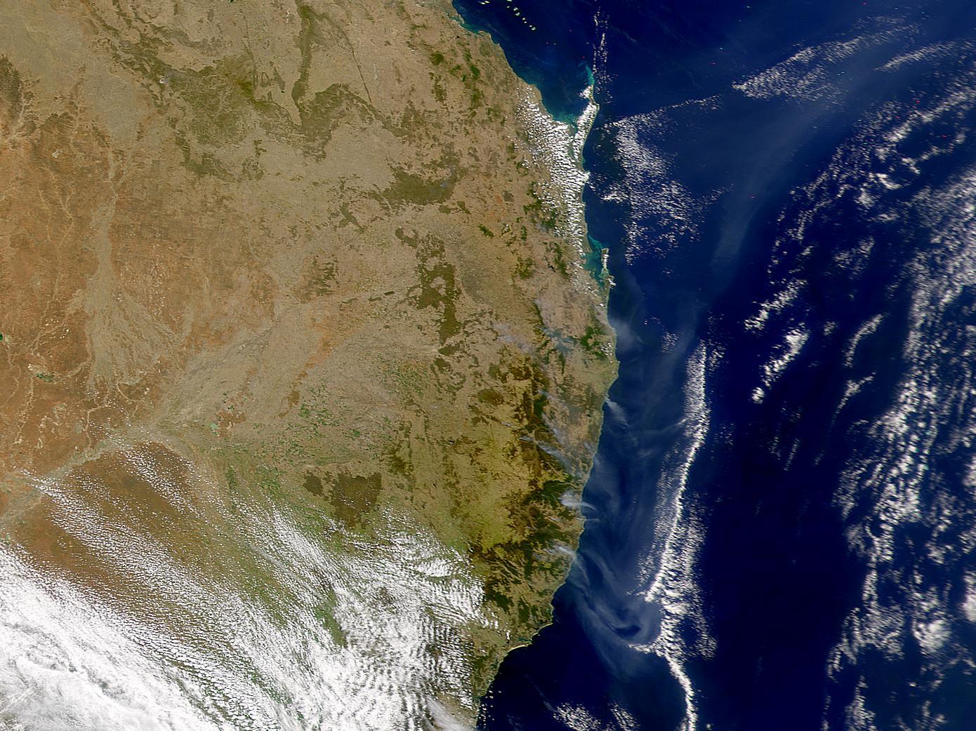 Humo en Australia oriental
