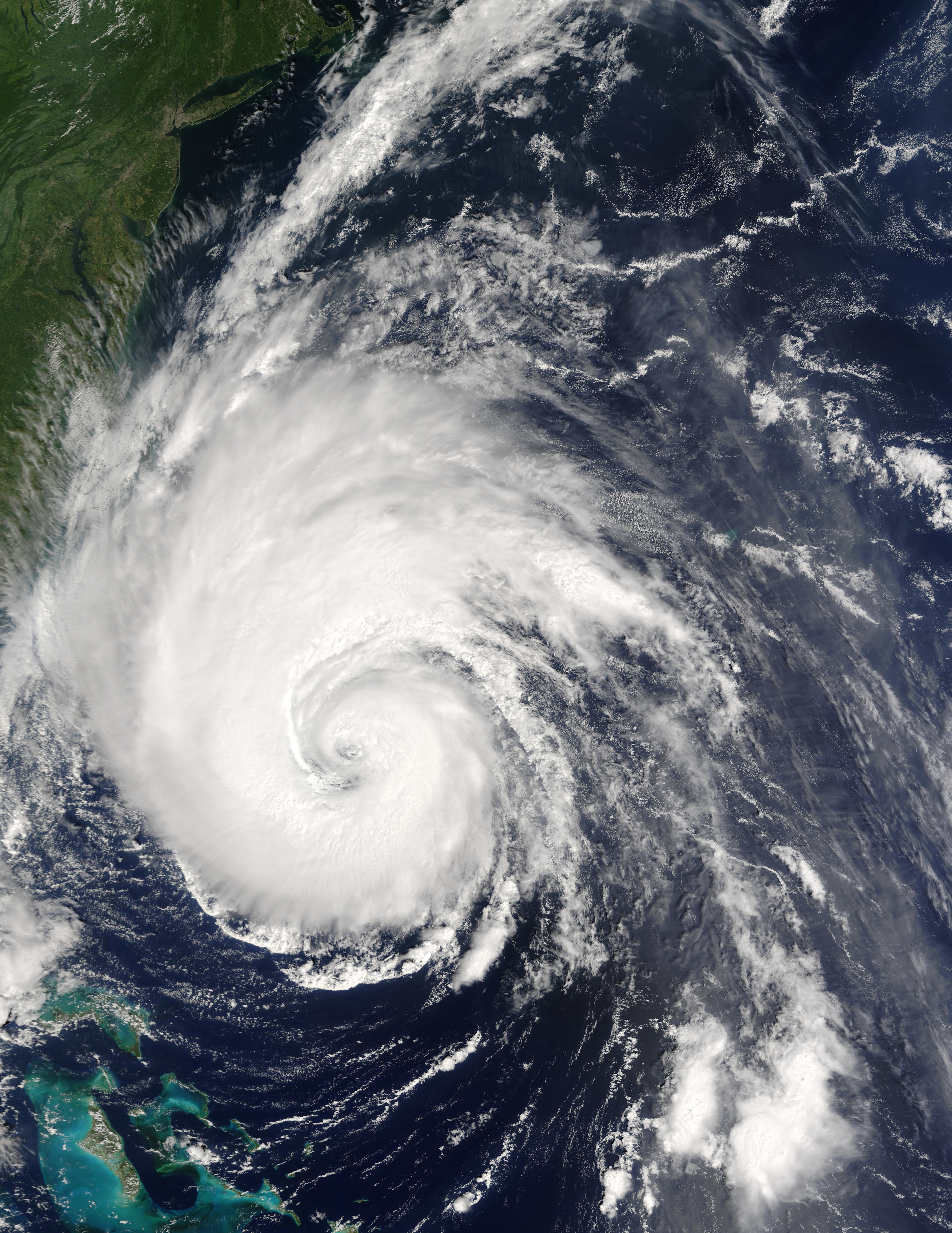 Hurricane Isabel off the US East Coast