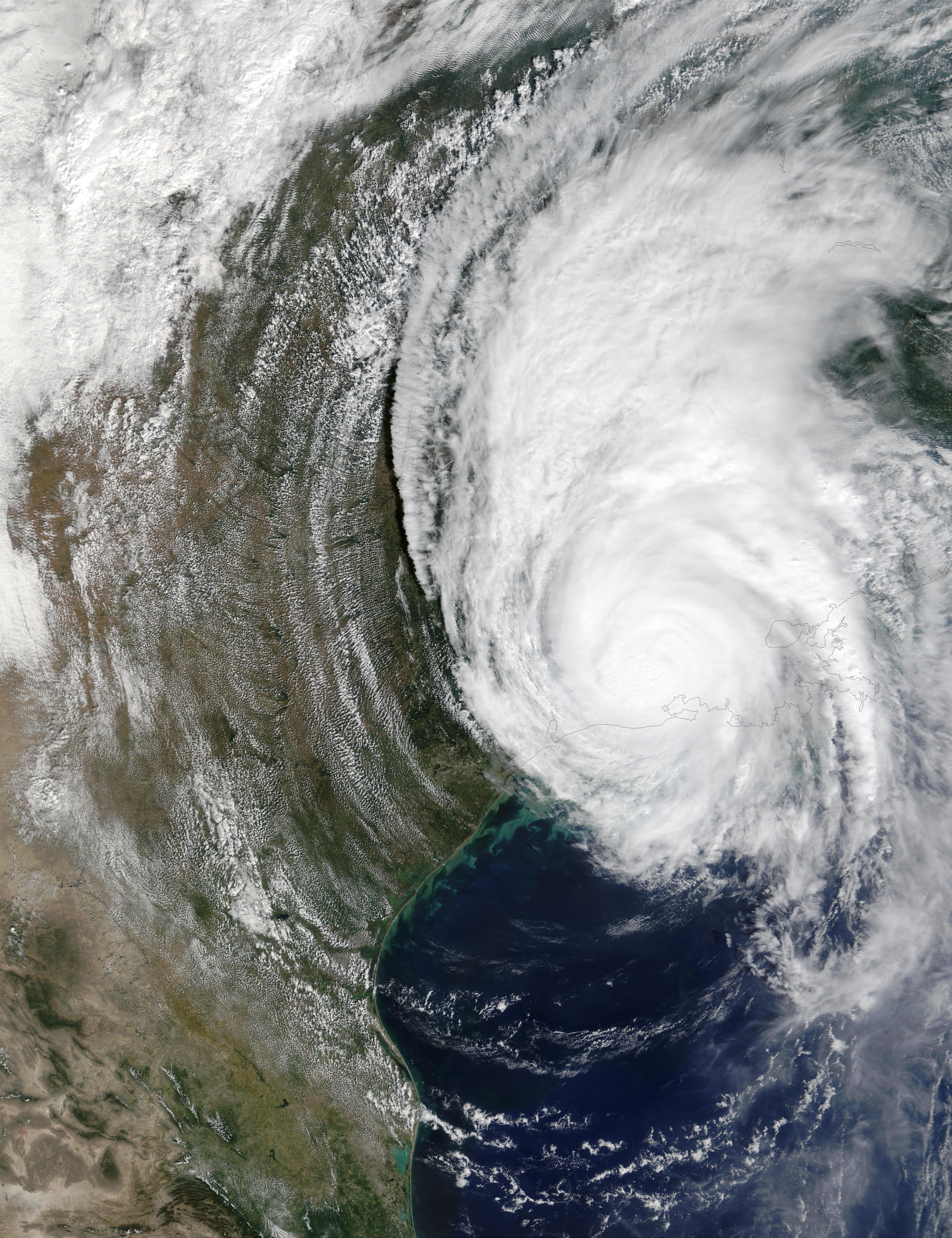 Hurricane Lili over Louisiana