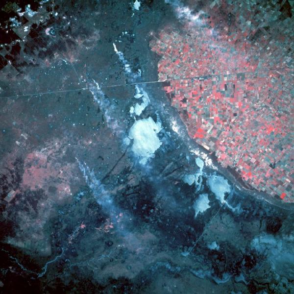 Imagen, Foto Satelite, Area Agricultural Norcentral, Argentina