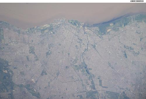 Satellite Image, Photo of Buenos Aires, Argentina