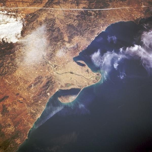 Imagen, Foto Satelite, Delta del Rio Ebro, España