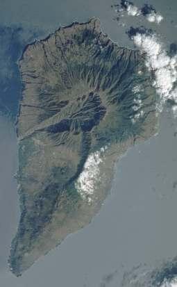 Satellite Image, Photo, La Palma Island, Canarias, Spain
