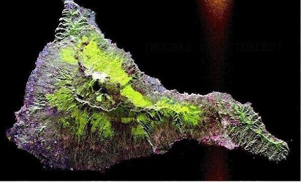 Imagen, Foto Satelite, Isla Tenerife, Canarias, España