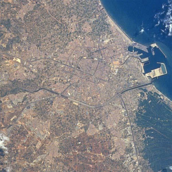 Imagen, Foto Satelite, Valencia, España